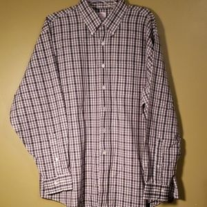 Brooks Brothers plaid button-up